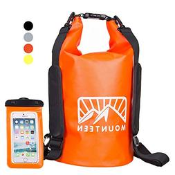 Waterproof Dry Bag Backpack by Mounteen: Roll Top Marine Gra