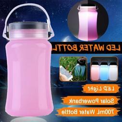Waterproof LED Solar Camping Lantern Foldable Storage Bottle