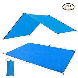 Geertop Waterproof Lightweight Tent Floor Footprint Tarp Rai