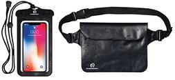 Premium Waterproof Pouch Set with Waist / Shoulder Strap - B
