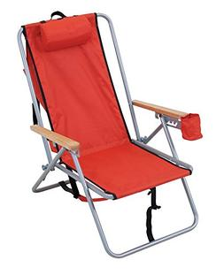 RIO Gear Original Steel Backpack Chair- Red