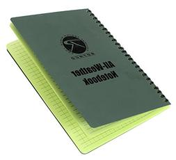 "Rothco All Weather Waterproof Notebook, Green, Size: 6"" x 8"""