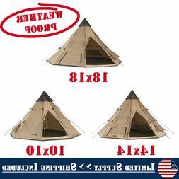 Weatherproof Guide Gear Family Camp Teepee Tent Waterproof C