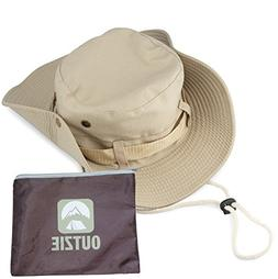 OUTZIE Wide Brim Packable Booney Sun Hat | Max Protection fo