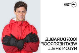 Winter Ski & Snowboard Gloves with Wrist Leashes - Waterproo