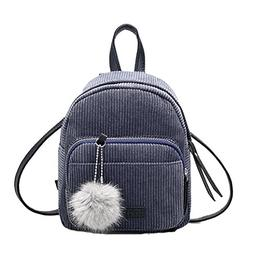 Women Girls Daily Backpack,Realdo Solid Leather Corduroy Sch