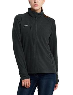 Baleaf Women's Full Zip Mid-Weight Fleece Jacket Pullover Gr