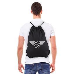 Wonder Woman Symbol Eco-Friendly Reusable Drawstring Bag 6 o