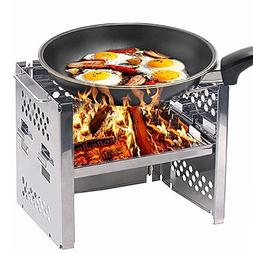 Unigear Wood Burning Camp Stoves Picnic BBQ Cooker/Potable F