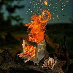 Wood Burning Folding Survival Emergency Stove Lightweight Ca