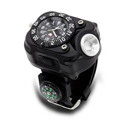 Kittoze Wrist LED Light, Rechargeable LED Flashlight Watch w