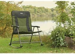 Guide Gear XXL Rocking Camp Chair Capacity, Green/Black Camp